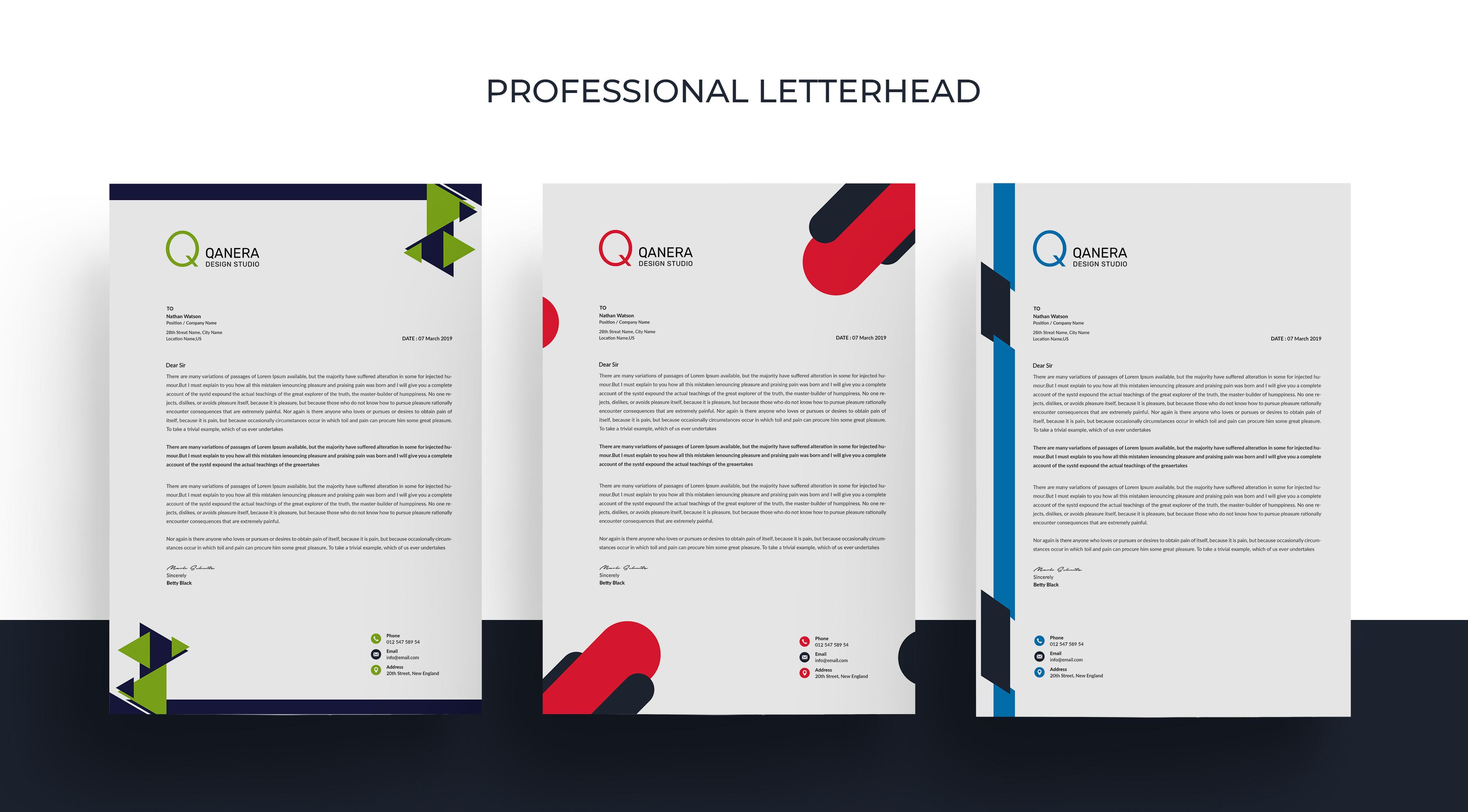 دانلود letter head